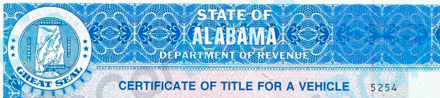 Alabama Department Of Revenue, Motor Vehicle Division, Title Section Requires Titles For The Following